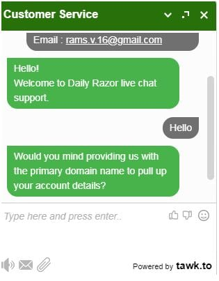 dailyrazor chat 1 for java hosting