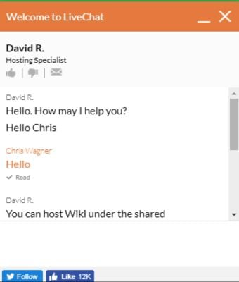 greengeeks chat for wiki hosting