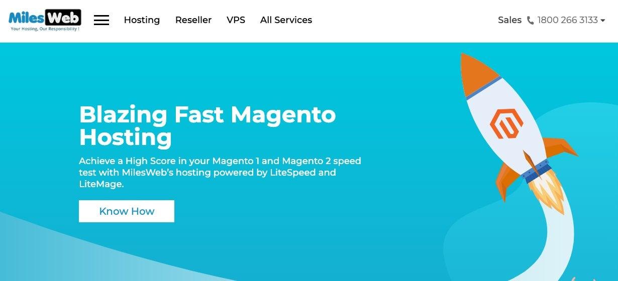 milesweb magento hosting