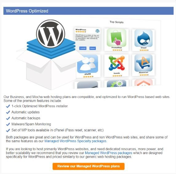 mochahost features wordpress