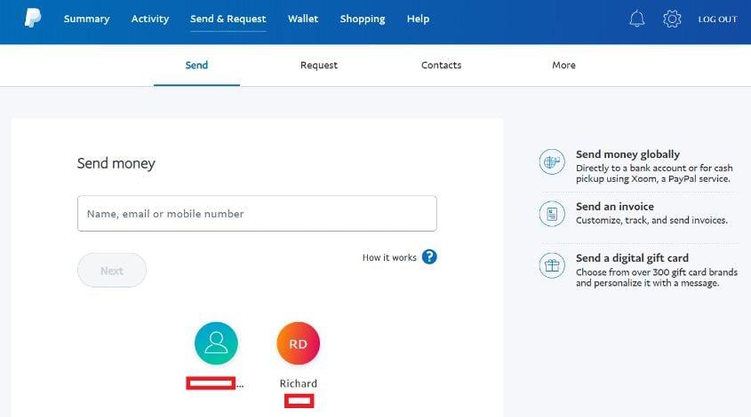 venmo v paypal send money