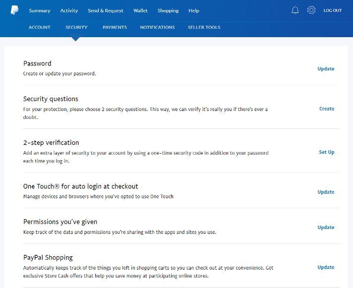 venmo vs paypal security settings
