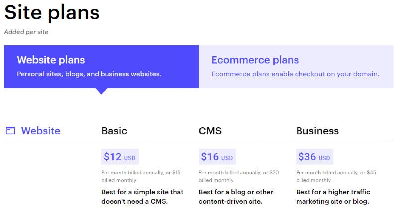 webflow plans