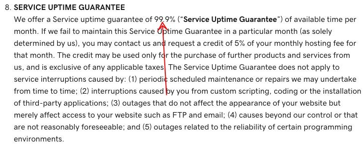 godaddy terms of service