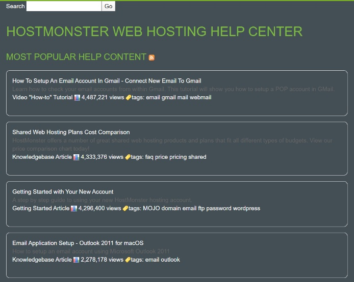 hostmonster-support center