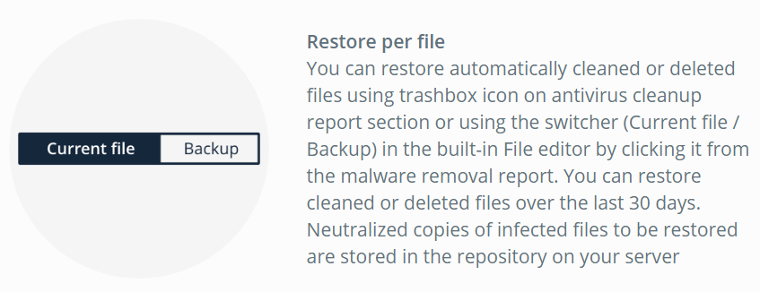 virusdie-restore files