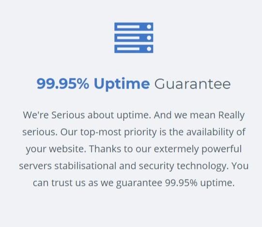 uptime guarantee 99.95%