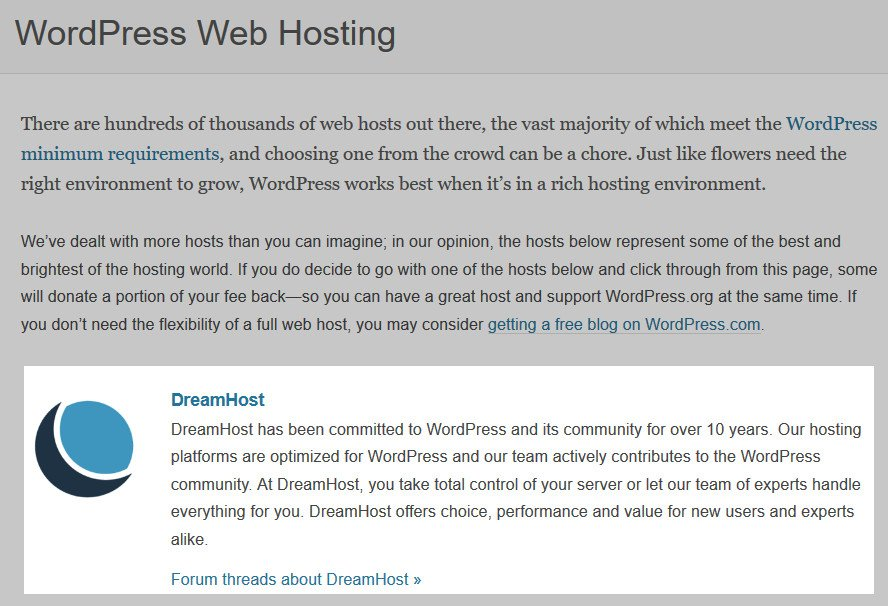 wordpress dreamhost recommendation