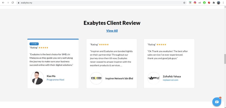 Exabytes Web Hosting client rev