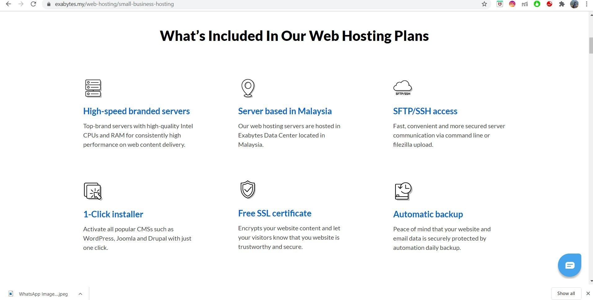 Exabytes Web Hosting features