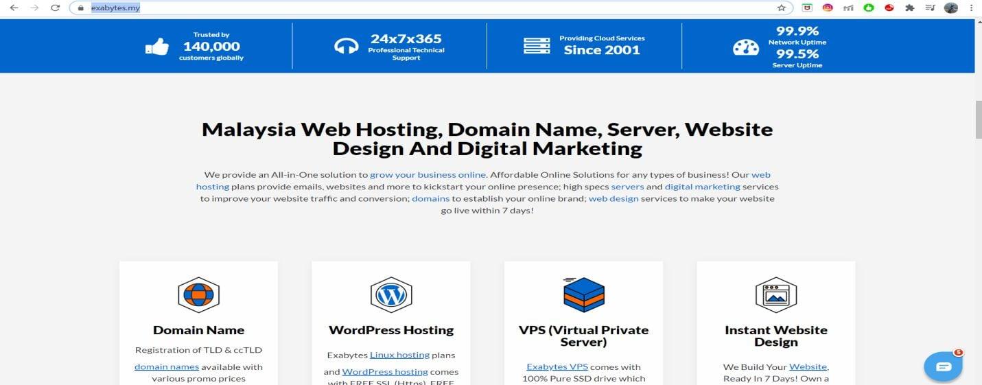 Exabytes Web Hosting uptime