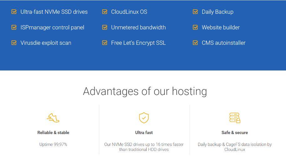 Host4biz features