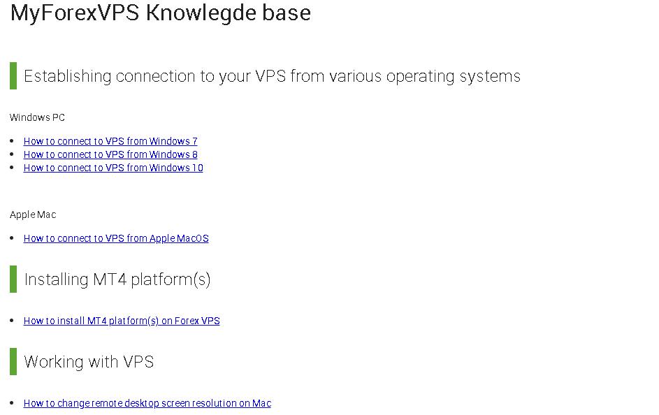 MyForexVPS KB