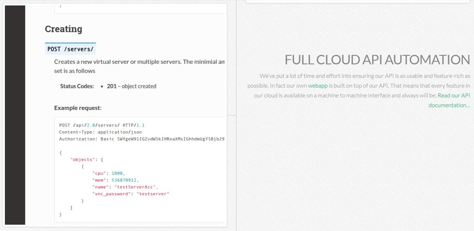 cloudsigma-ease of use-api