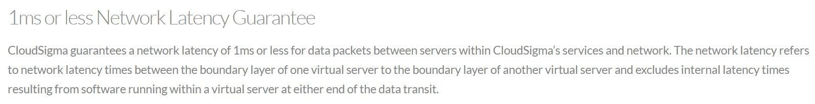 cloudsigma-performance-latency guarantee