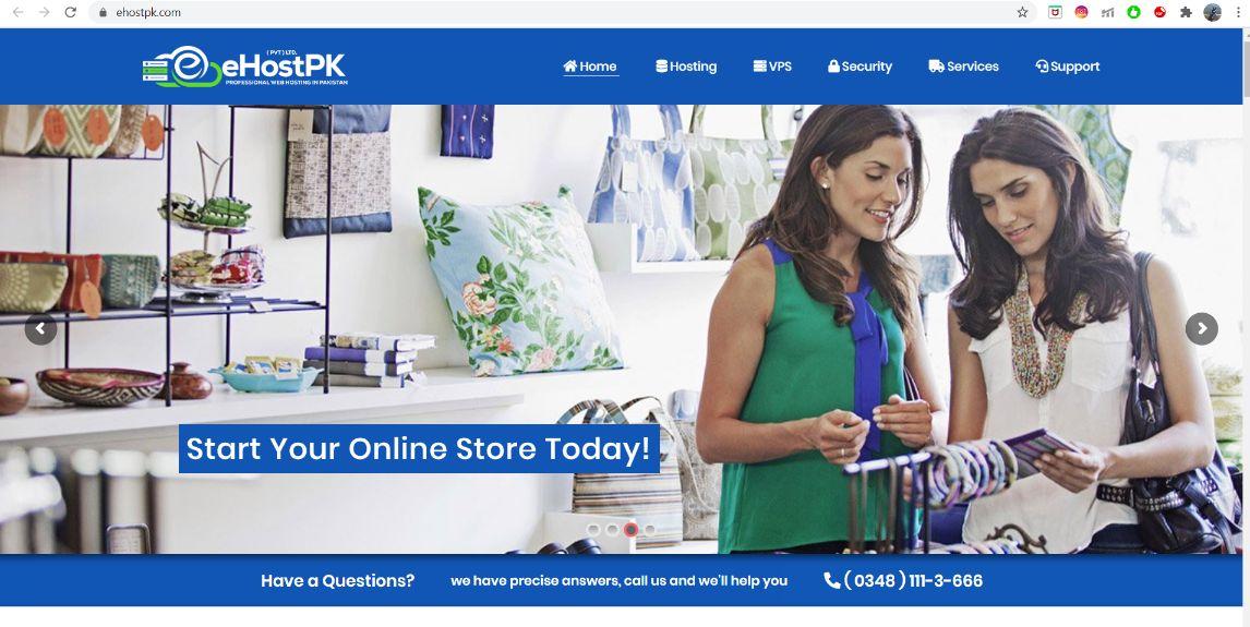 eHostPK homepage