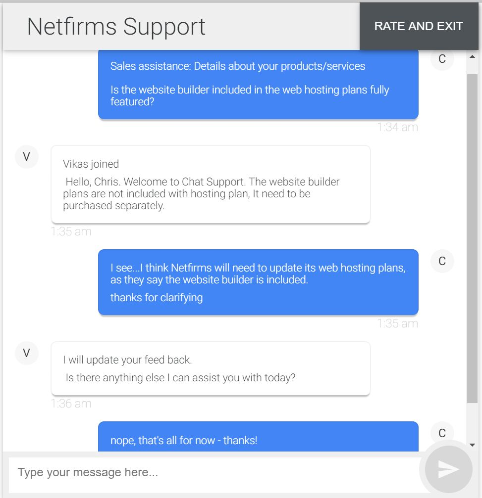 netfirms chat