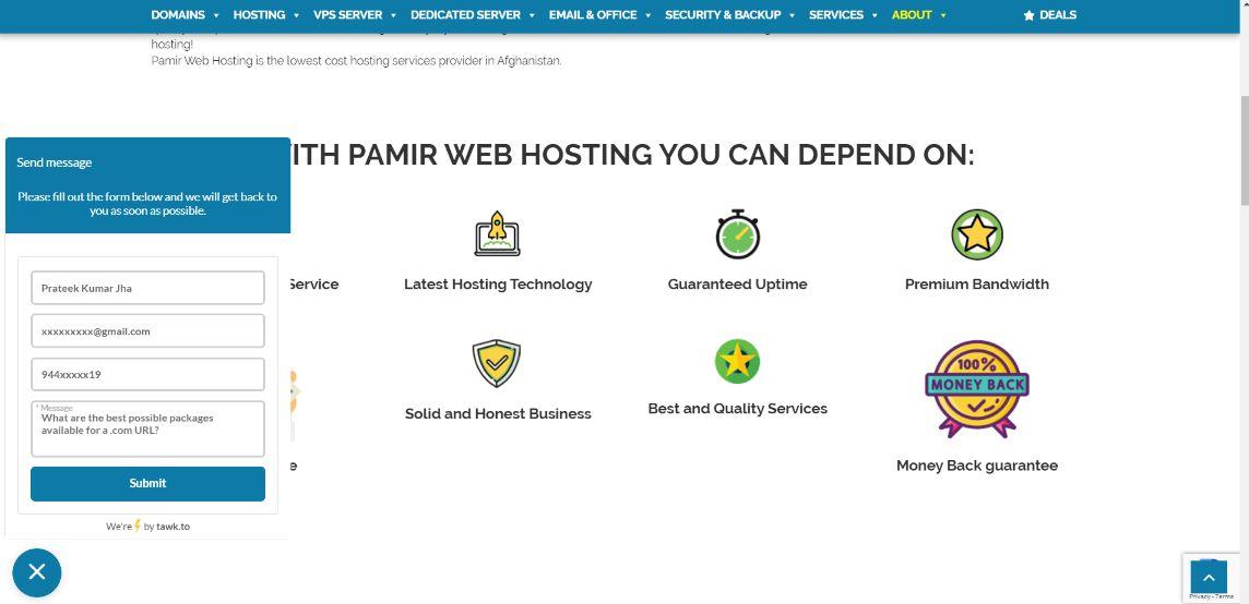 pamir-customer-support
