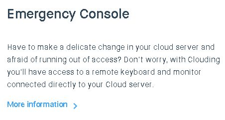 Clouding.io emergency console