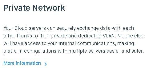Clouding.io private network