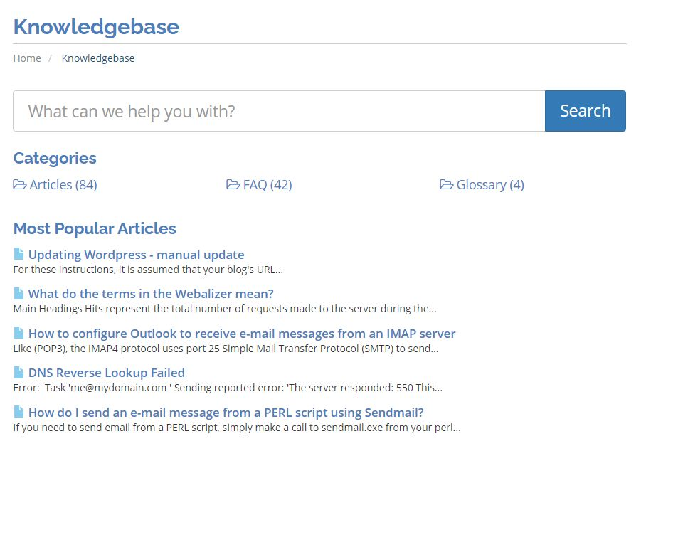 Host Depot knowledge base
