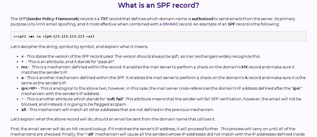 Hostarmada SPF record