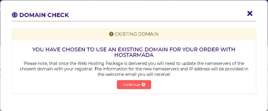 Hostarmada domain check