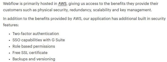 Webflow-security