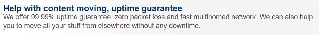 exmasters uptime guarantee