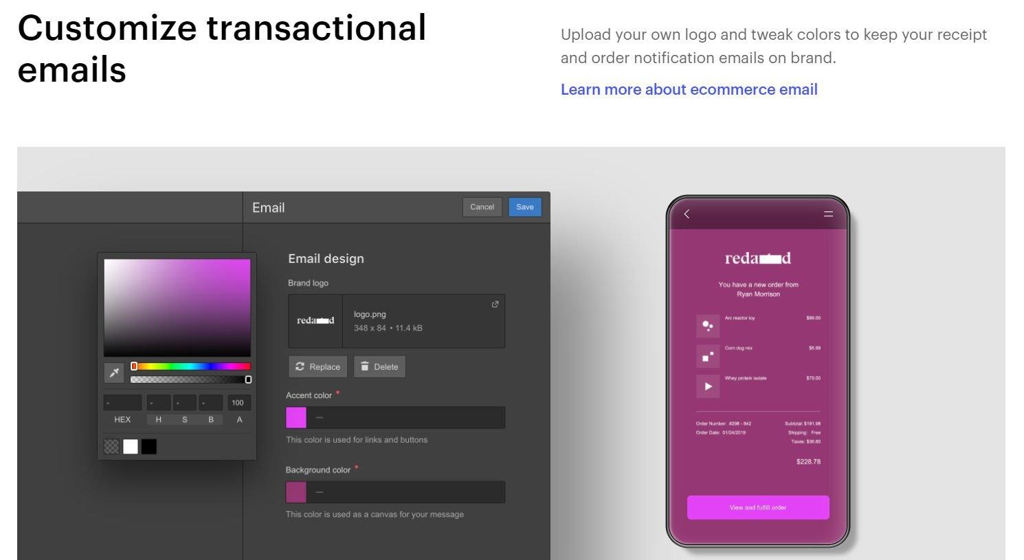 webflow-ecommerce-email design