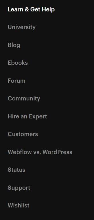 webflow-support