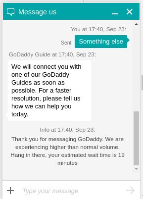 godaddy chat 1