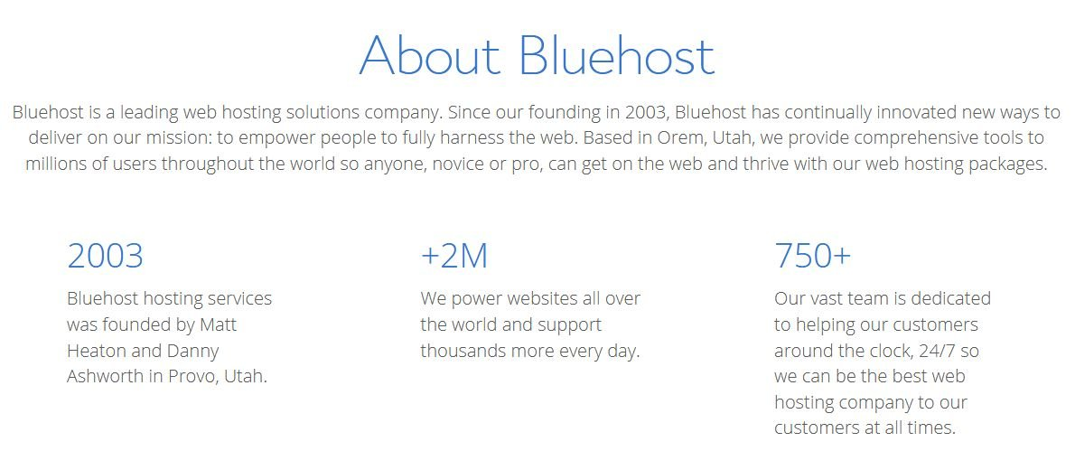 Bluehost Websites