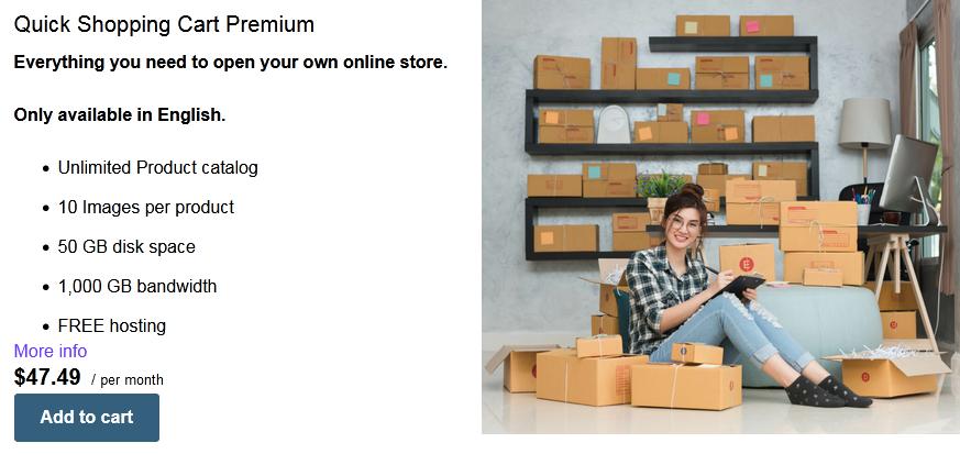 Madezdomains shopping cart premium