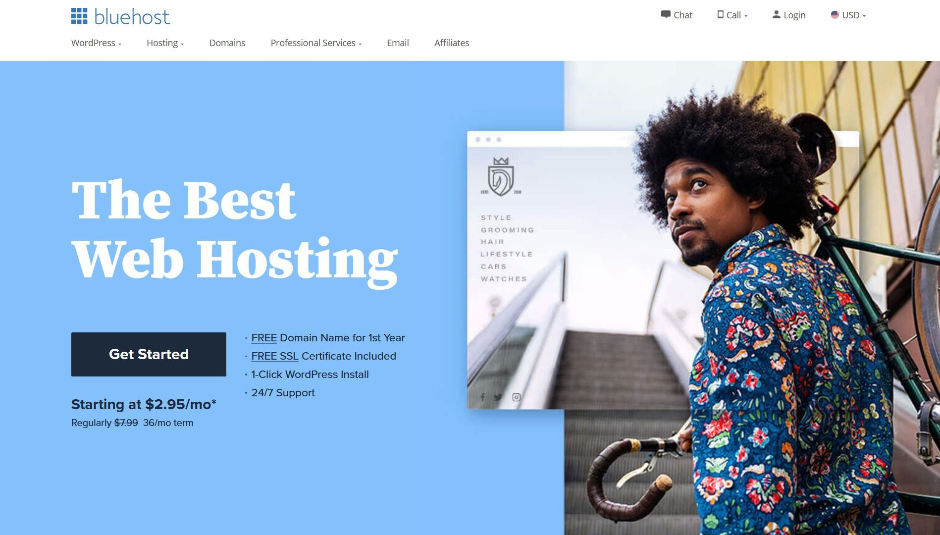 bluehost banner for godaddy alternatives