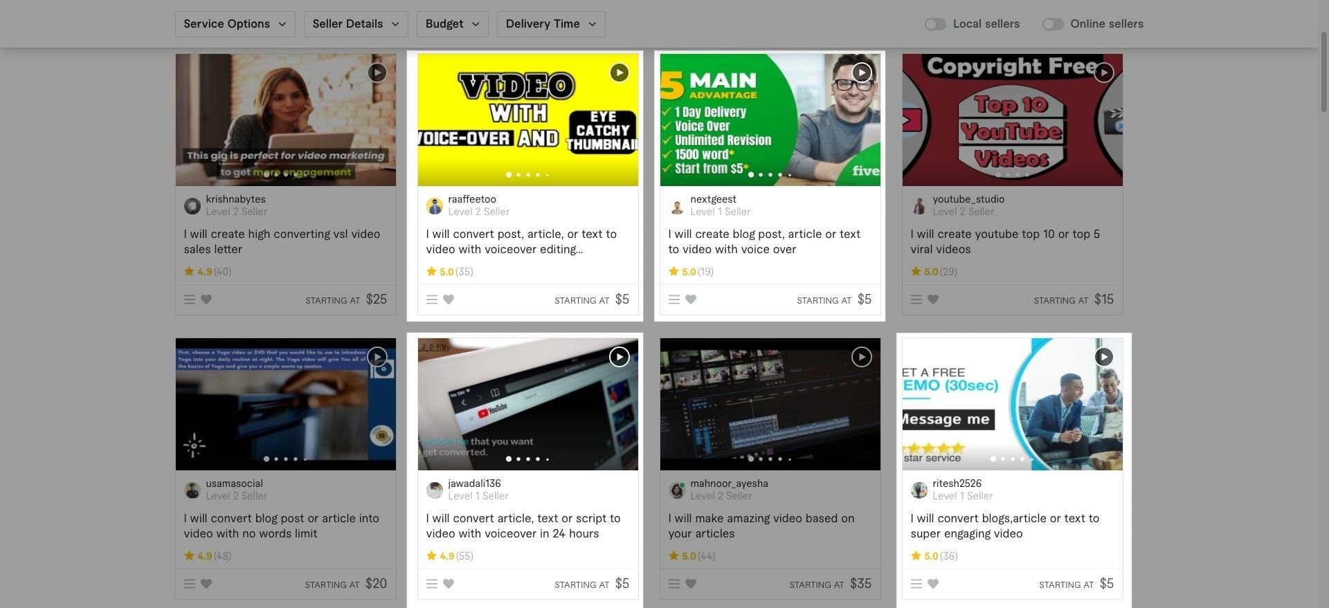 Article to Video Services Online Fiverr