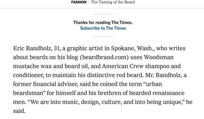 Taming of the Beard - The New York Times